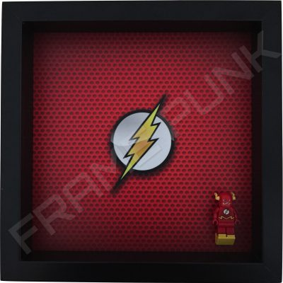 LEGO The Flash Minifigure display frame with minifigure