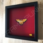 LEGO Wonder Woman Minifigure display frame Side View