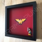 LEGO Wonder Woman Minifigure display frame with minifigure Side View