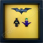 LEGO Batman Movie Minifigure Series Duo display frame with minifigures (Black)