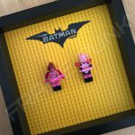 LEGO Batman Movie Minifigure Series Duo display frame with minifigures (Combo 4)