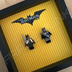 LEGO Batman Movie Minifigure Series Duo display frame with minifigures (Combo 5)