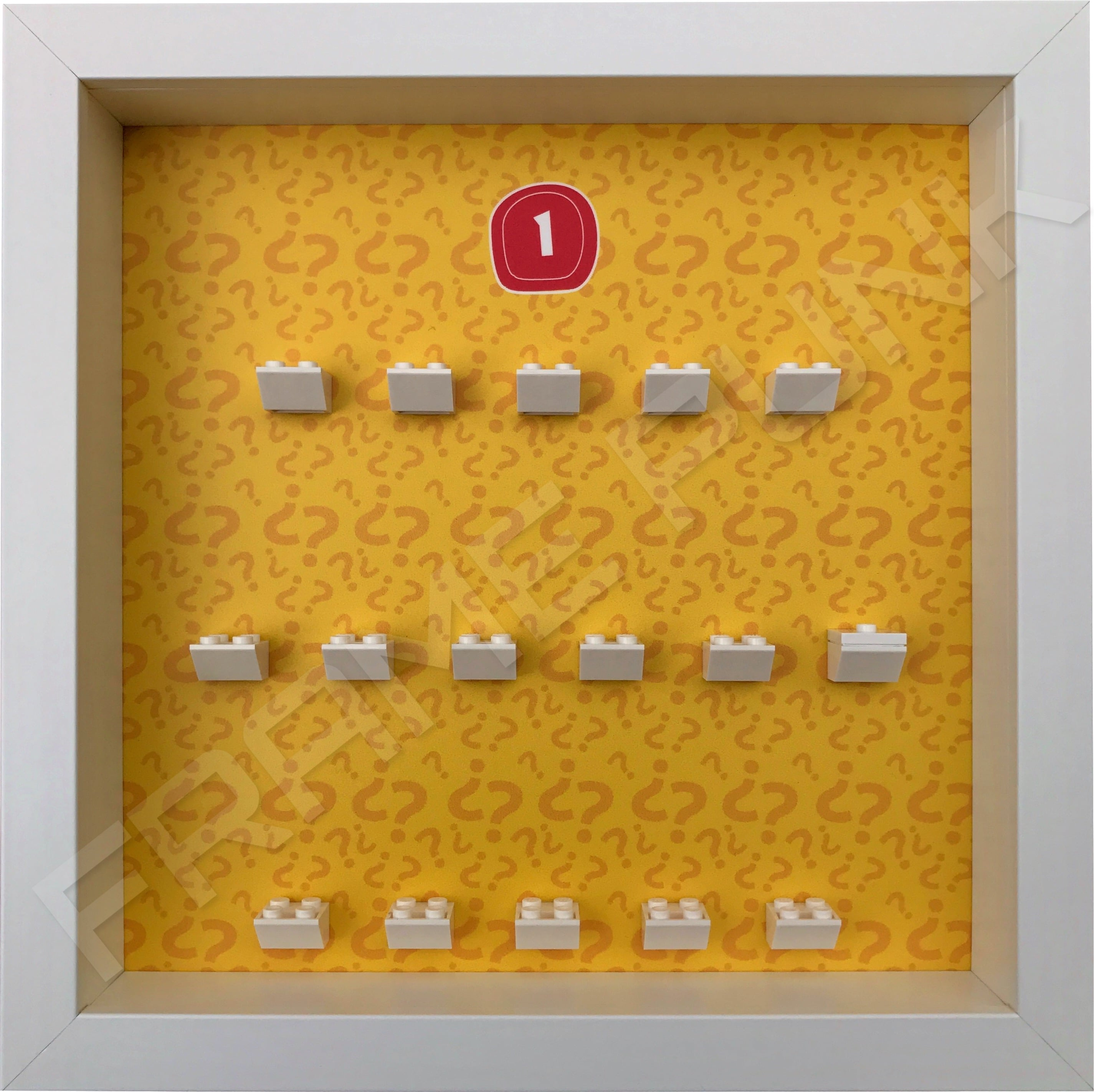 Lego minifigures series 1 display frame