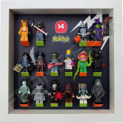 Lego minifigures series 14 display frame with minifigures
