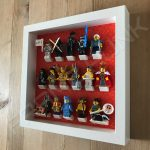 Lego minifigures series 15 display frame with complete set Side View