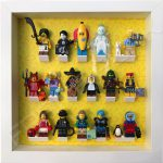 Lego minifigures series 16 display frame with complete set