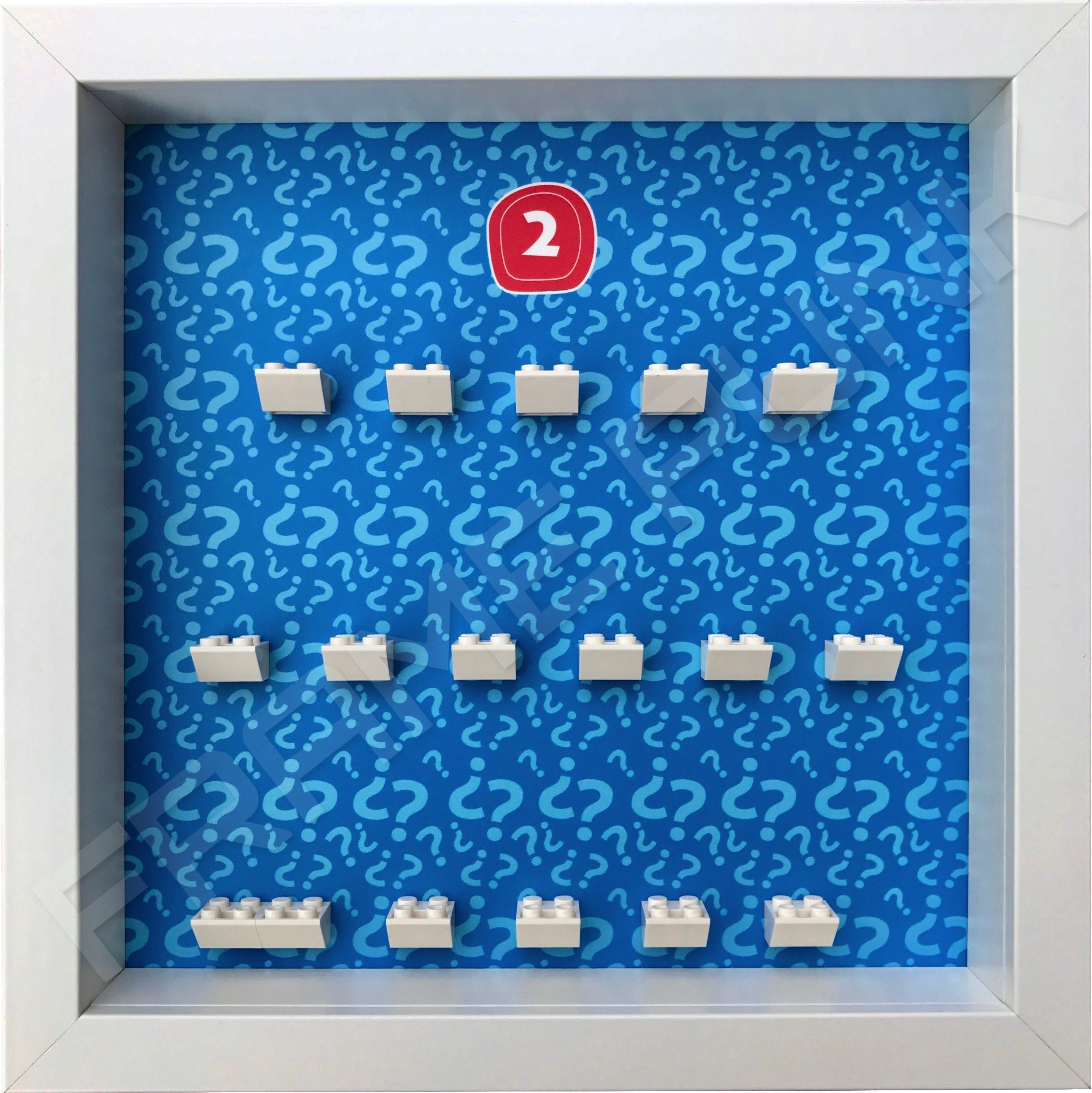 Lego minifigures series 2 display frame
