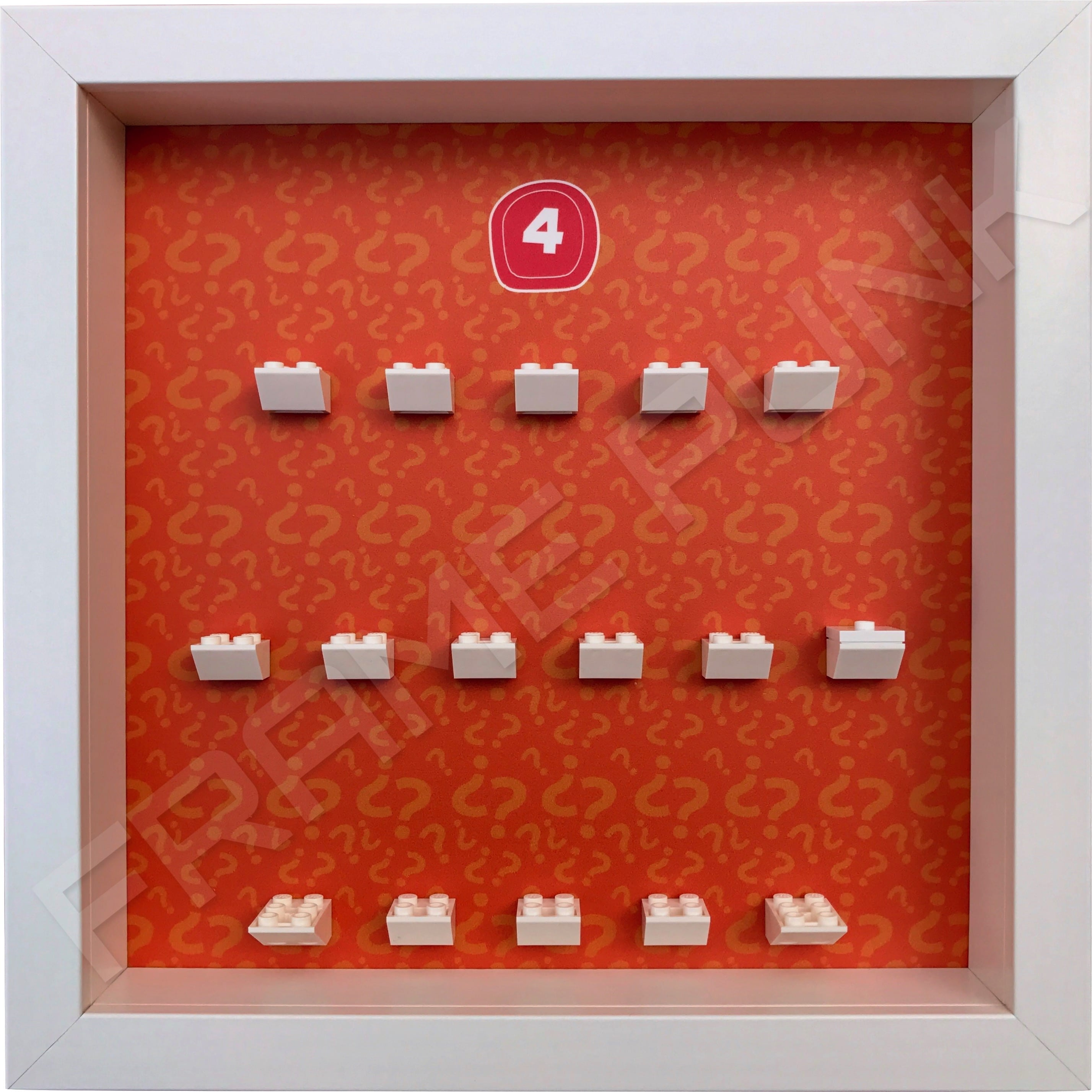 Lego minifigures series 4 display frame