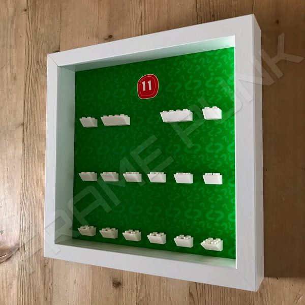 Lego minifigures series 11 display frame Side View