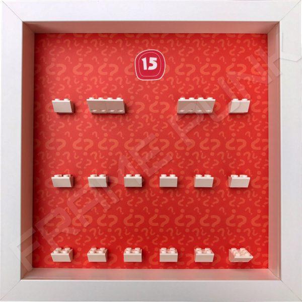 Lego minifigures series 15 display frame