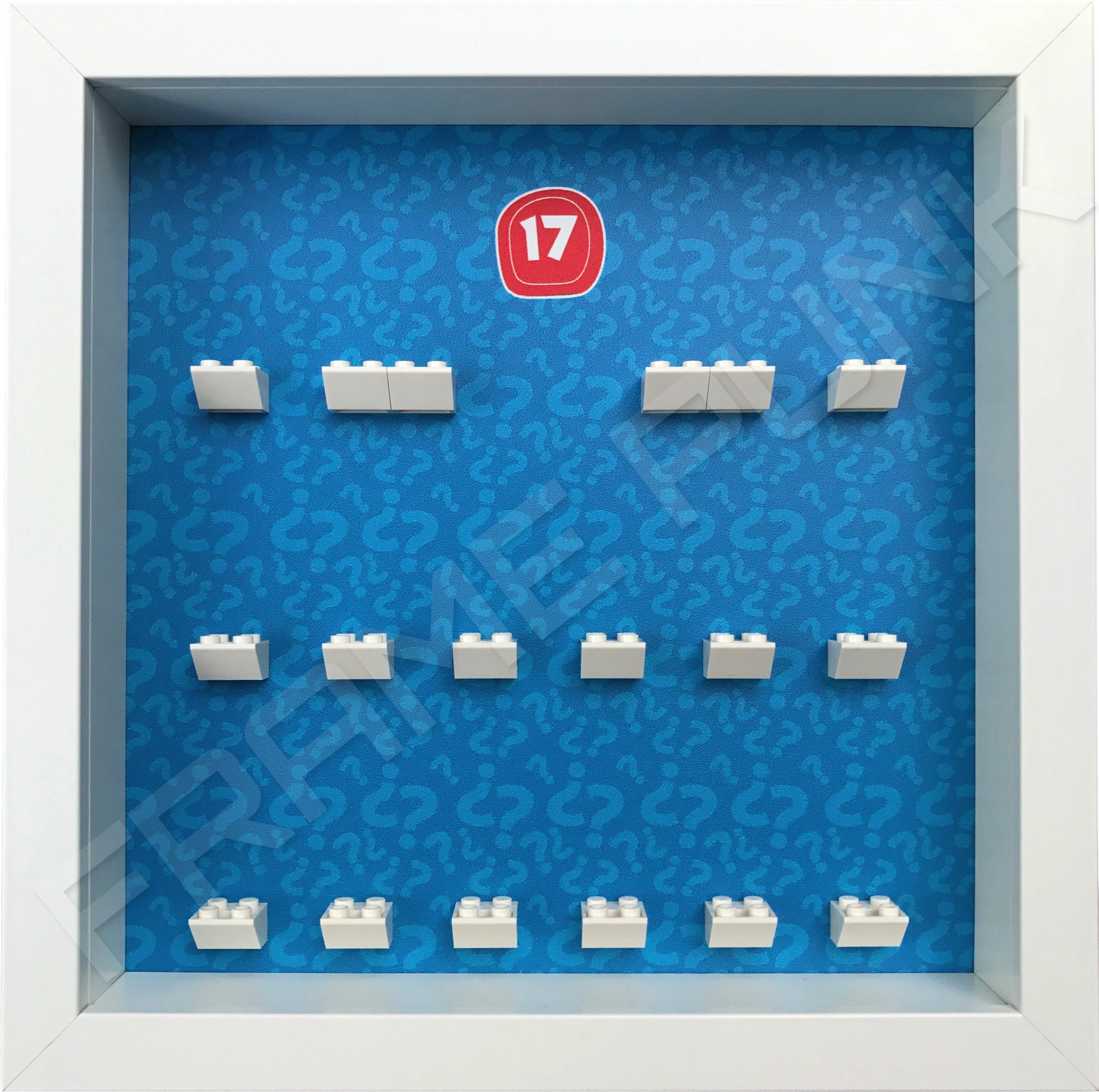 Lego minifigures series 17 display frame