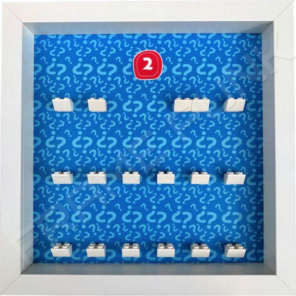 Lego minifigures series 2 display frame