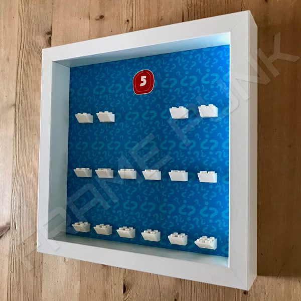 Lego minifigures series 5 display frame Side View