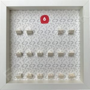 Lego minifigures series 6 display frame