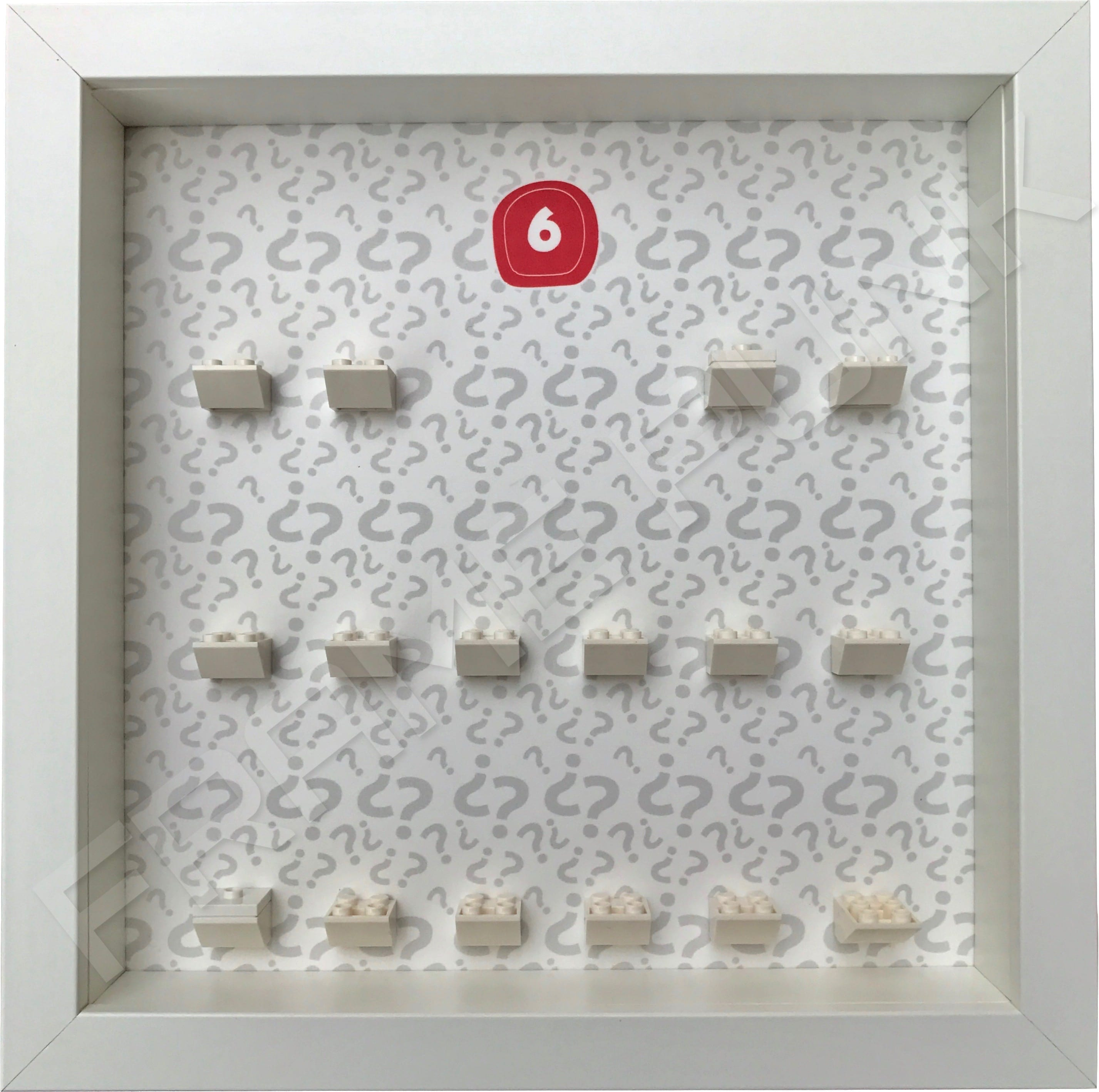 Lego minifigures series 6 display frame