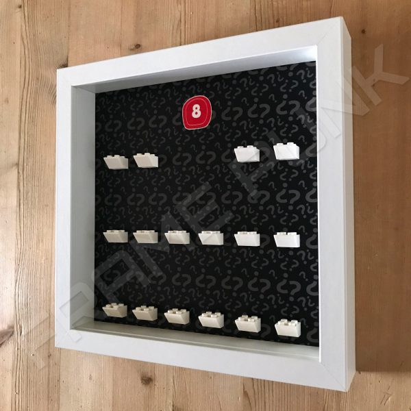 Lego minifigures series 8 display frame Side View