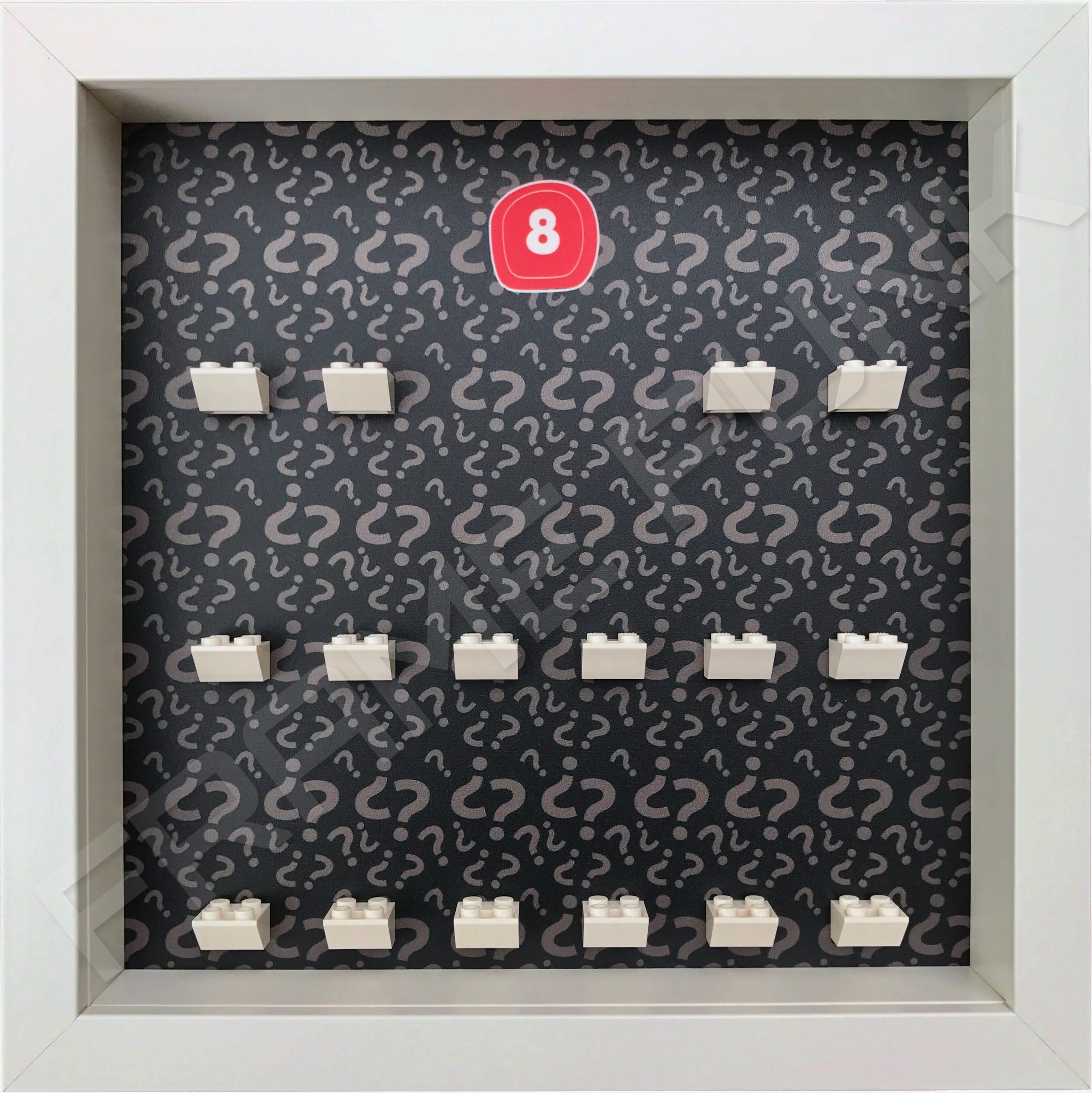 Lego minifigures series 8 display frame