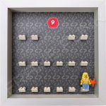 Lego minifigures series 9 display frame showing how the Mermaid minifigure sits within