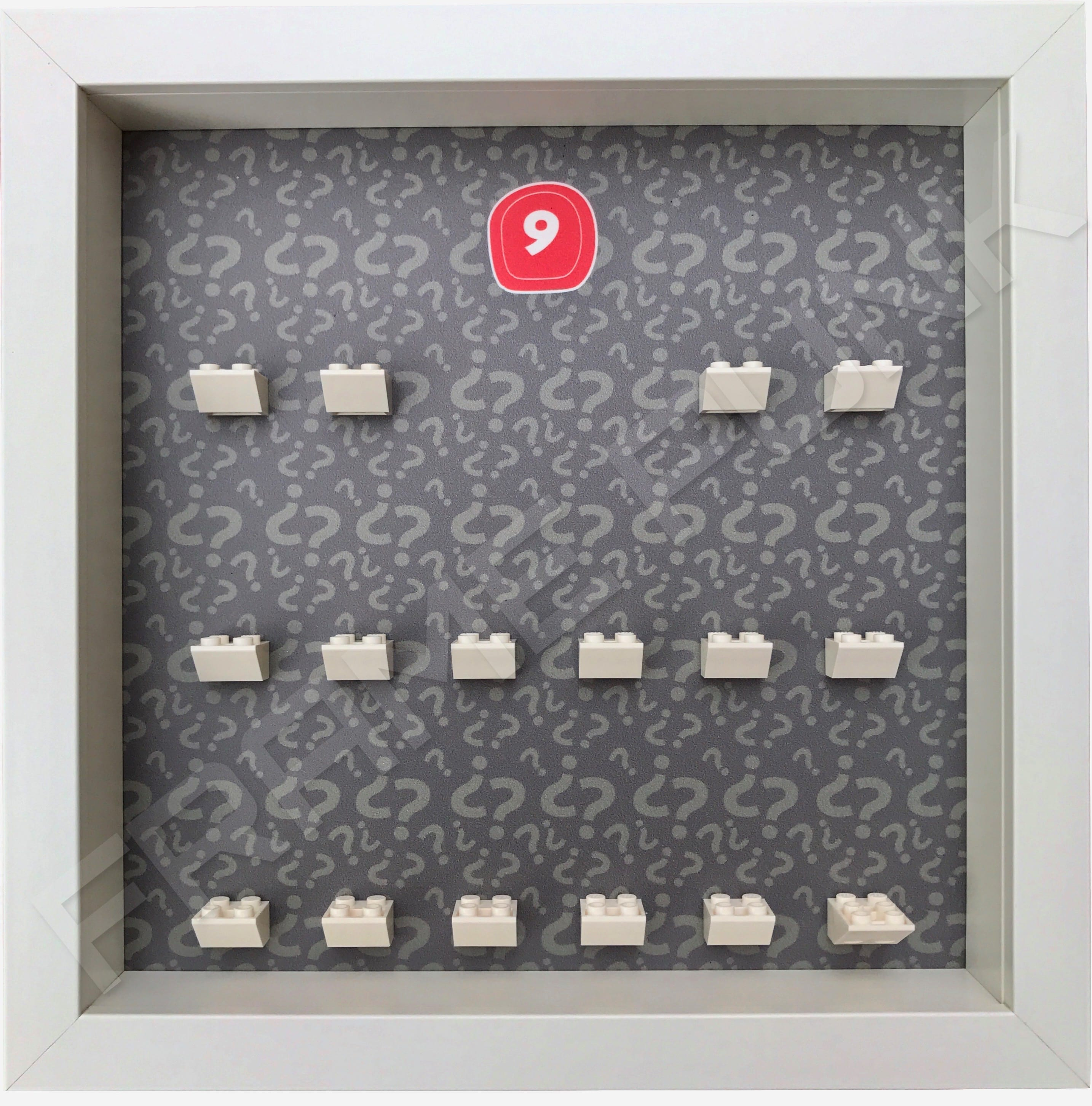 Lego minifigures series 9 display frame