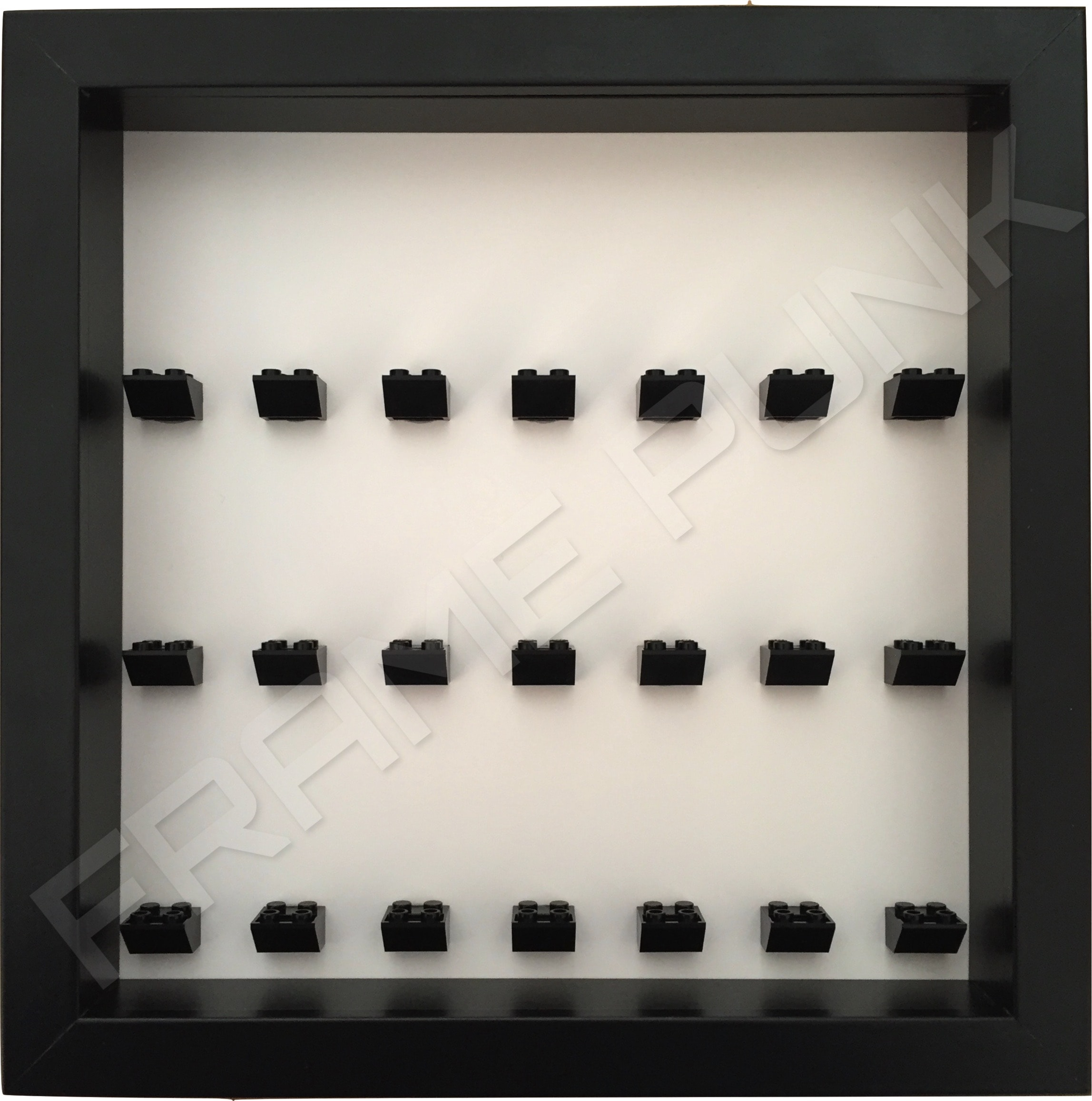 7 7 7 Lego brick frame formation