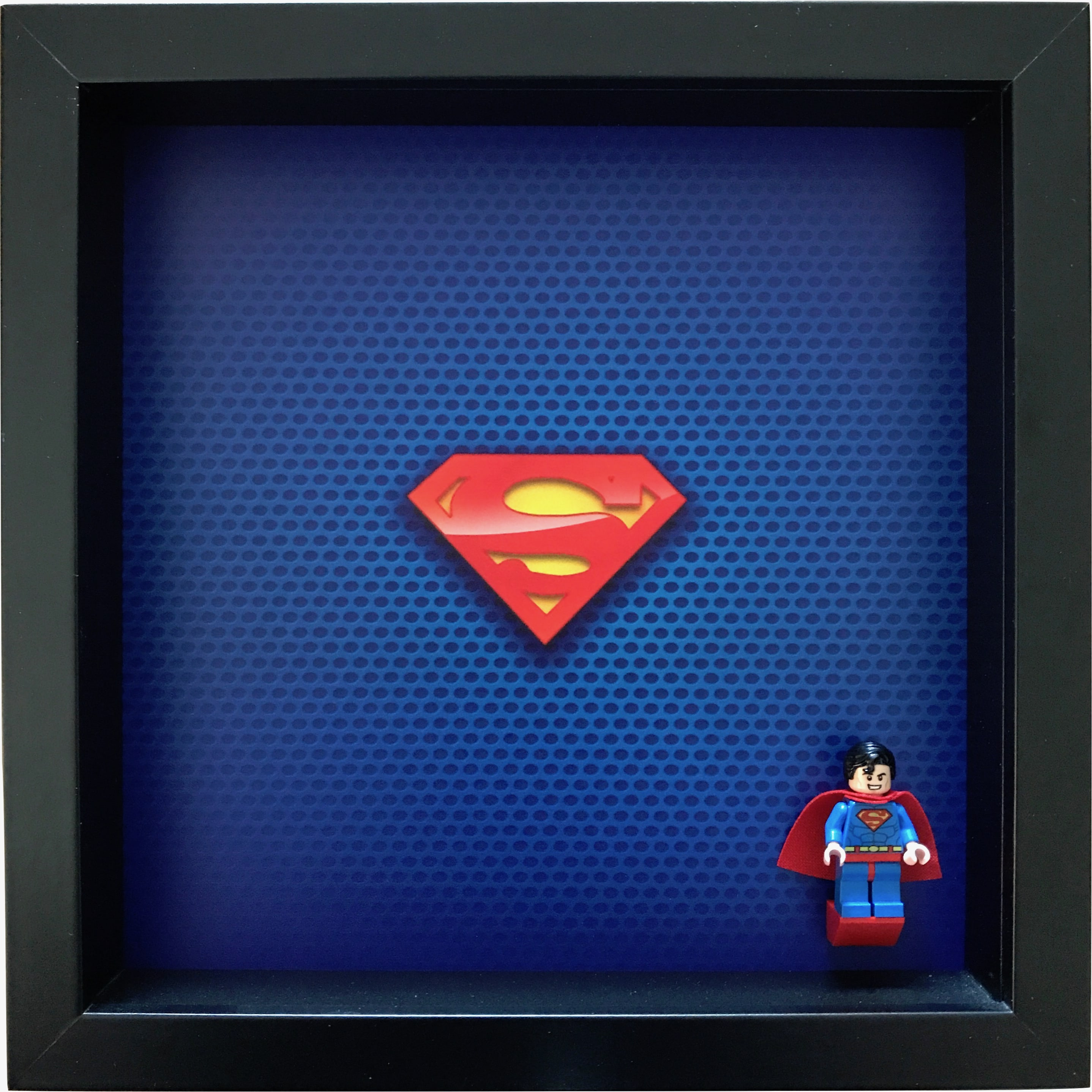 Superman LEGO Minifigure Display Frame with Minifigure