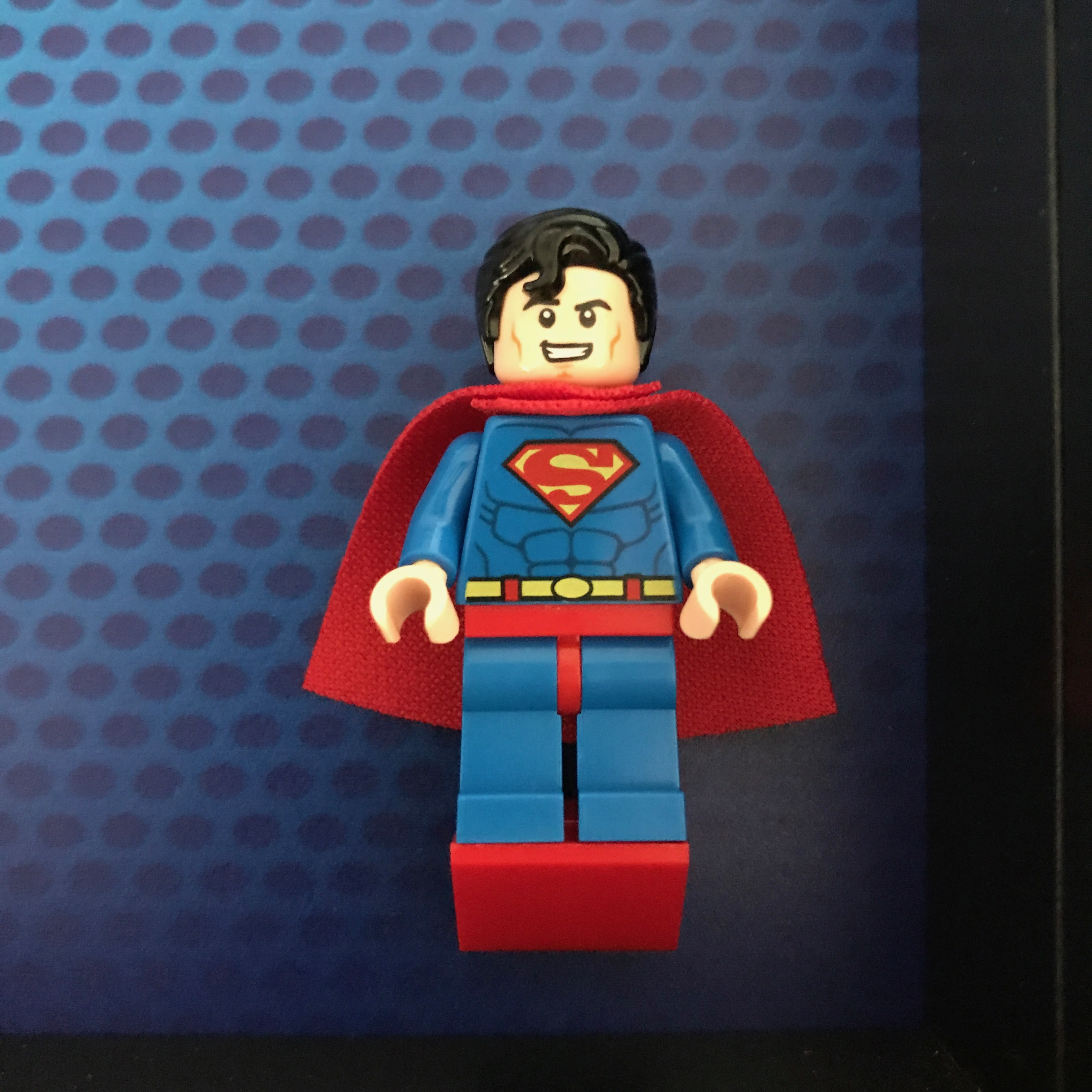 Superman Lego Minifigure Display Frame Frame Punk