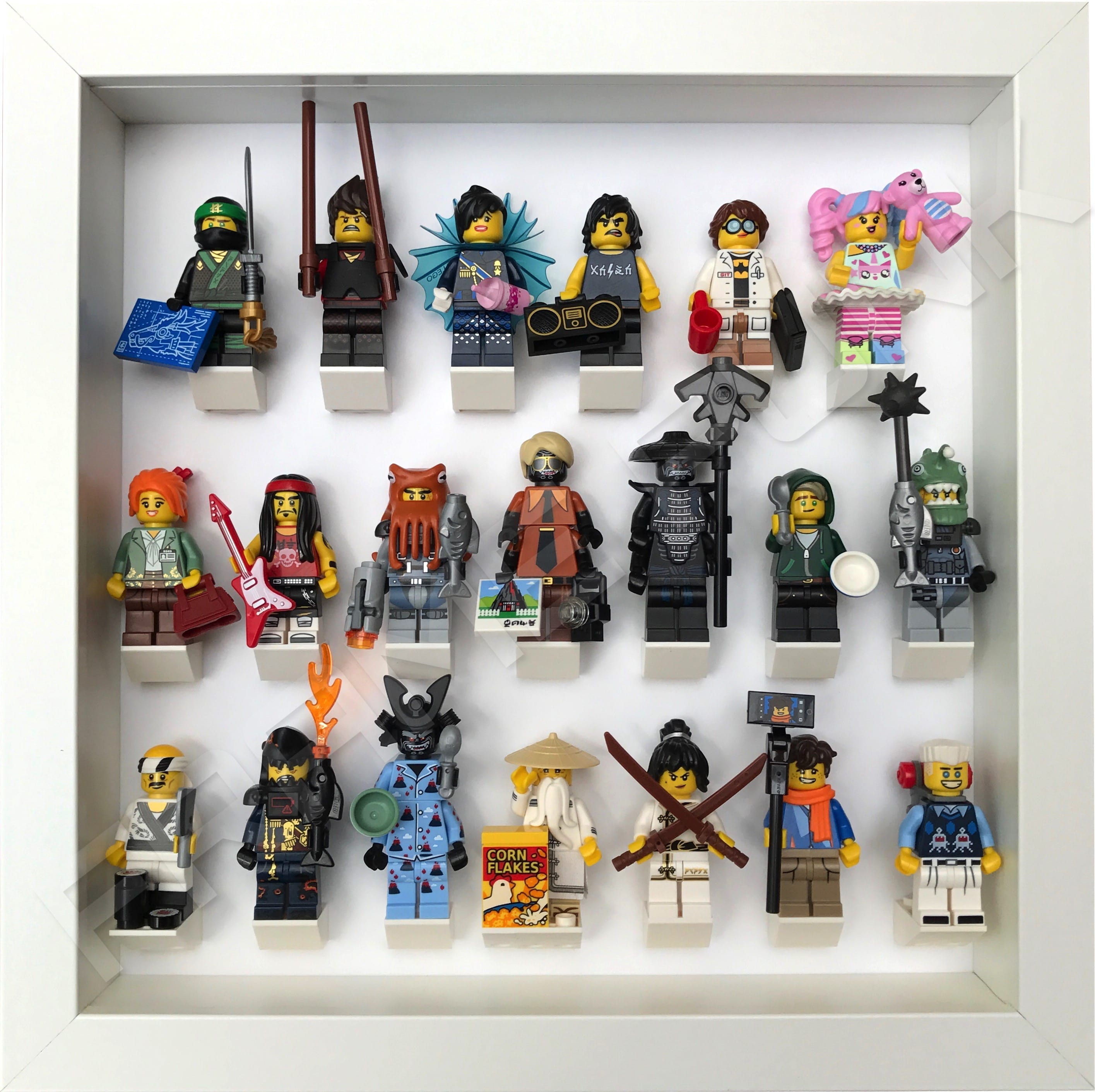 Ninjago Movie Minifigs Series All White Frame | Frame Punk
