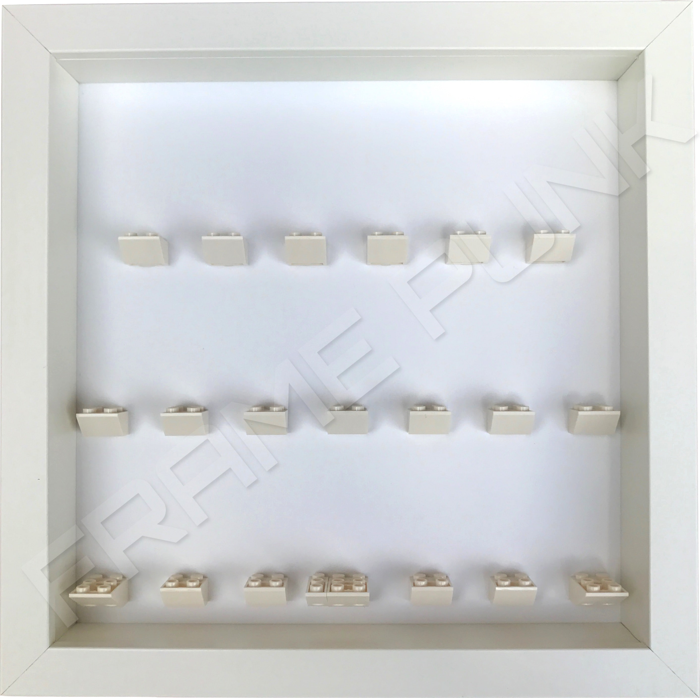 LEGO Ninjago Movie Minifigures Series display frame (All White)