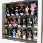 LEGO Ninjago Movie Minifigures Series display frame (black fade) with minifigures Side View