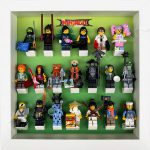 LEGO Ninjago Movie Minifigures Series display frame (green fade) with minifigures