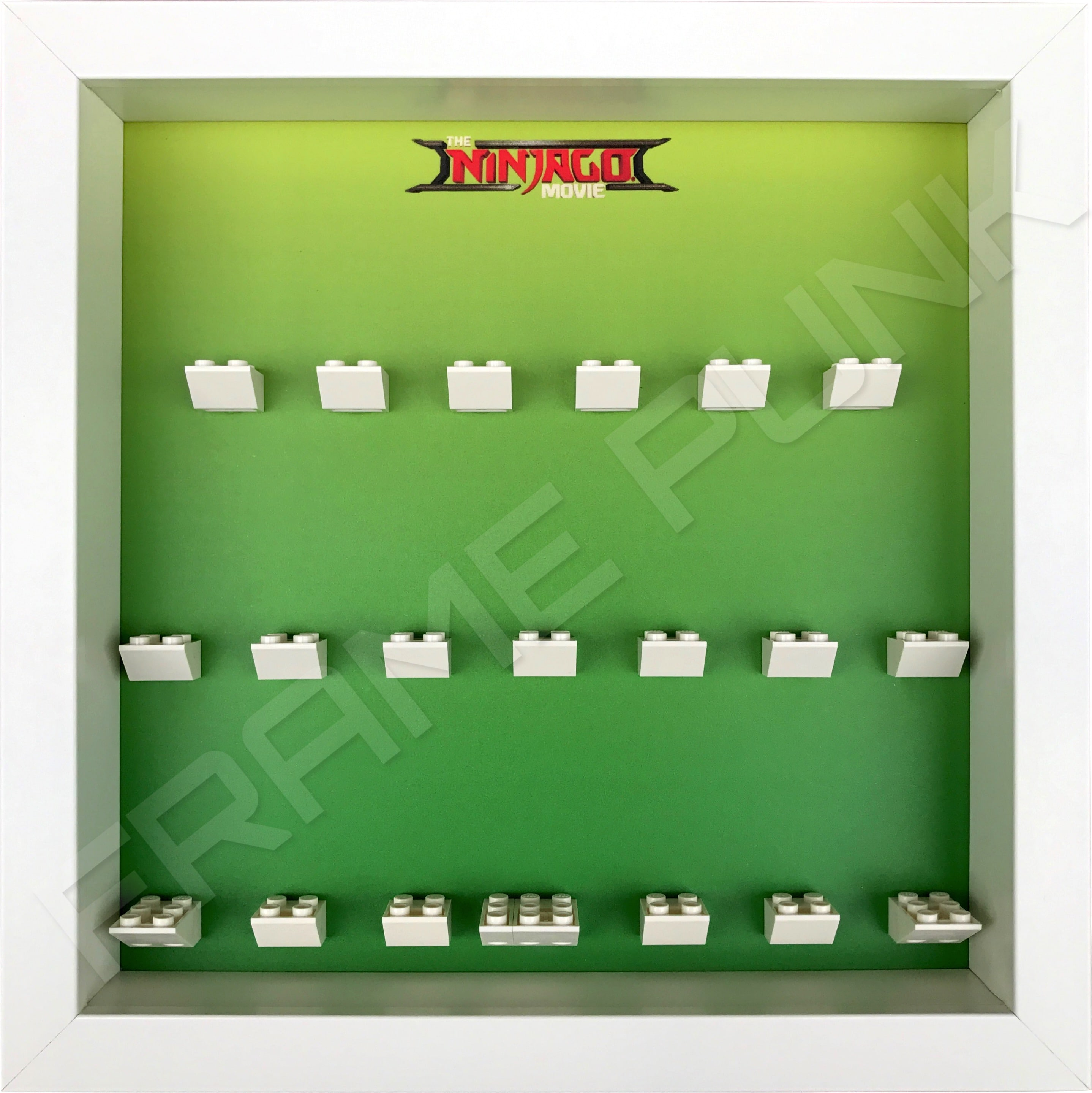 LEGO Ninjago Movie Minifigures Series display frame (green fade)