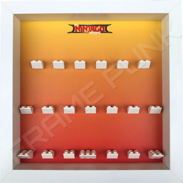 LEGO Ninjago Movie Minifigures Series display frame (orange fade)