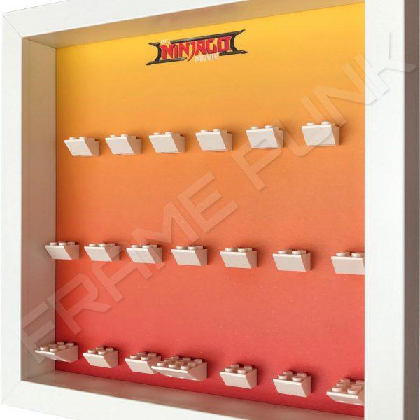 LEGO Ninjago Movie Minifigures Series display frame (orange fade) Side View