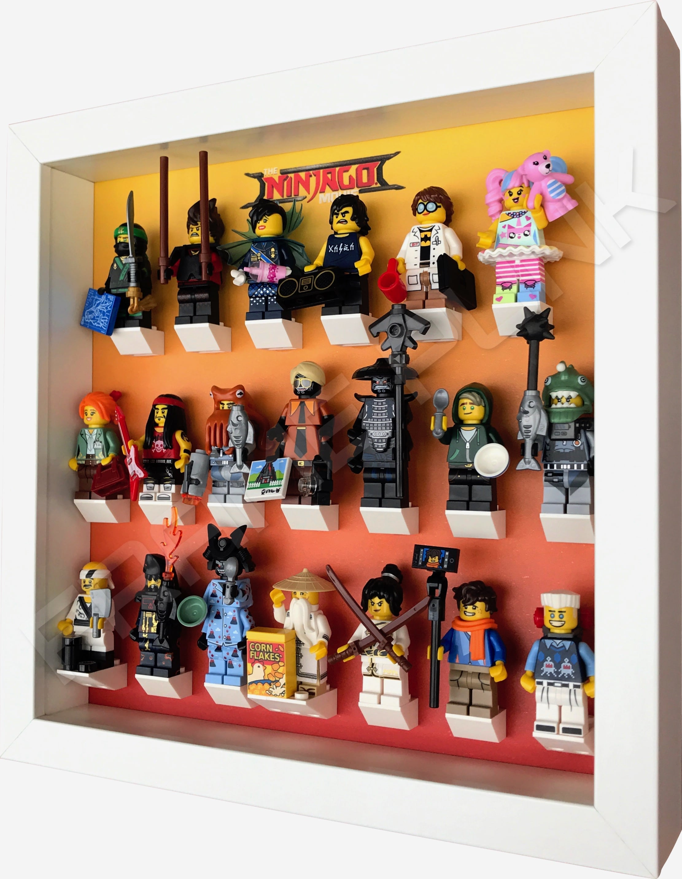 Ninjago Movie Minifigs Series frame (Orange) | Frame Punk