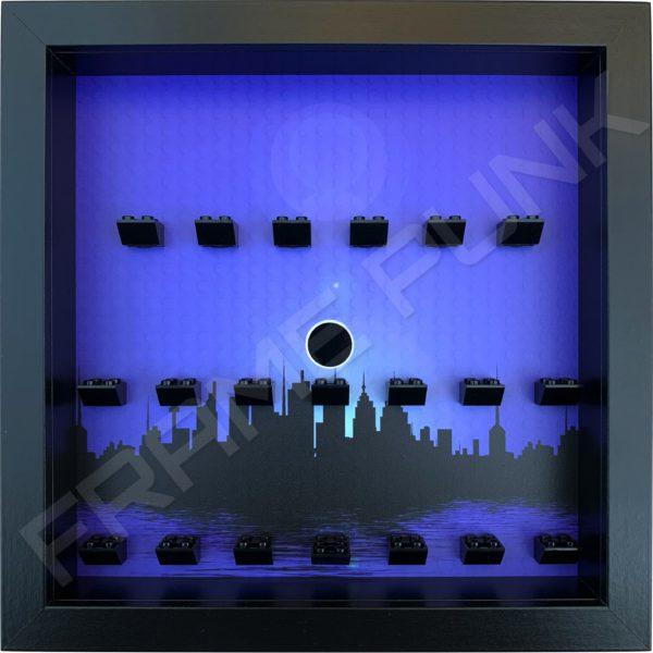 FRAME PUNK city display frame compatible with LEGO Batman minifigures series 1&2 (black)