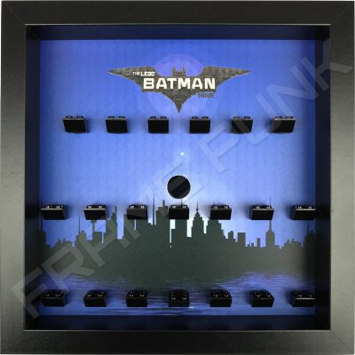 LEGO Batman Movie Minifigures Series display (City black frame)