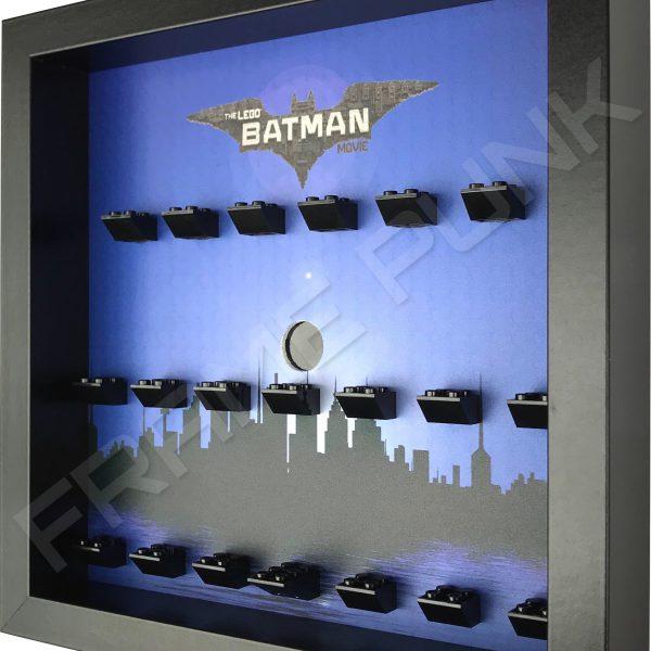 LEGO Batman Movie Minifigures Series display (City black frame) Side View