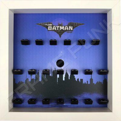 LEGO Batman Movie Minifigures Series display (City white frame)