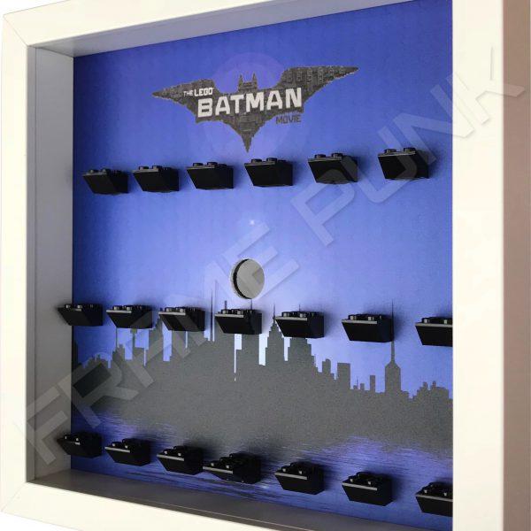 LEGO Batman Movie Minifigures Series display (City white frame) Side View