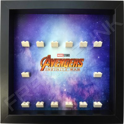 Avengers Infinity War Black Frame Lego Minifigure Display