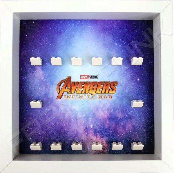 Avengers Infinity War White Frame Lego Minifigure Display