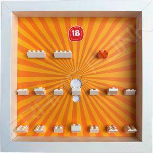 Lego minifigures series 18 display frame