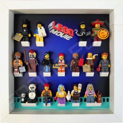 Lego Movie display frame with minifigures (white)