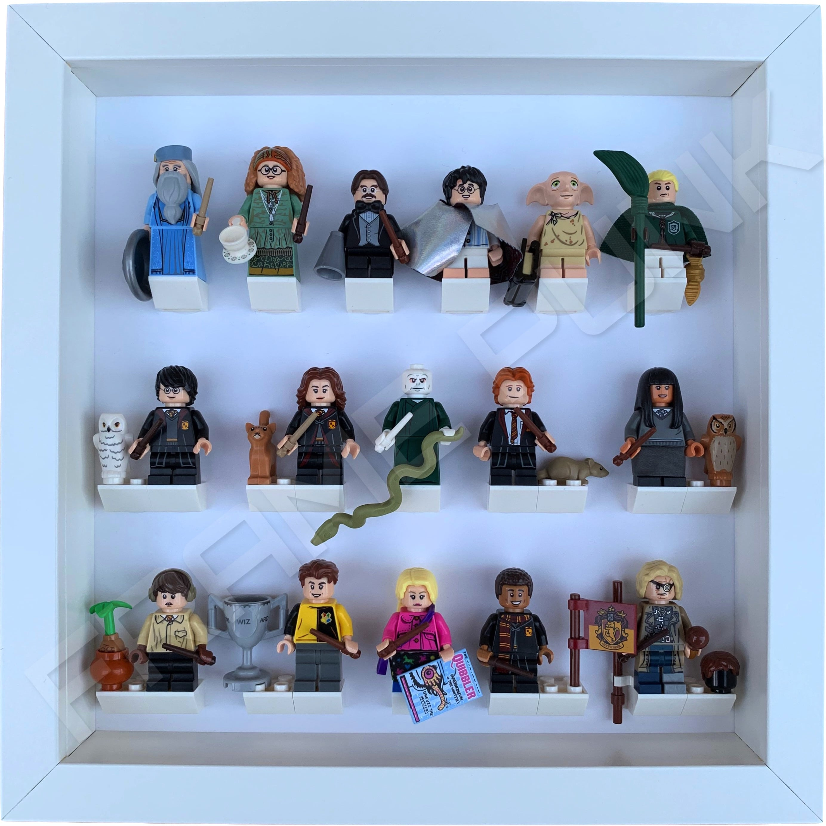 Display Case Frame for Lego Harry Potter minifigures figures