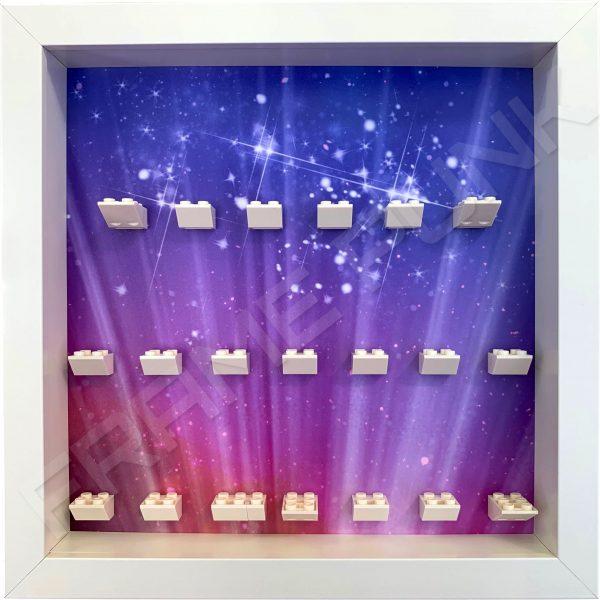 LEGO MOVIE 2 minifigure display frame (white)