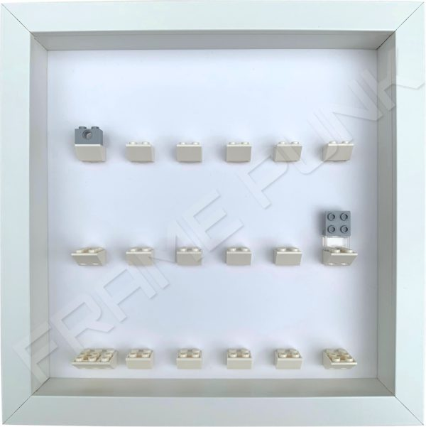 FRAMEPUNK All white display frame compatible with LEGO Disney Minifigures Series 2