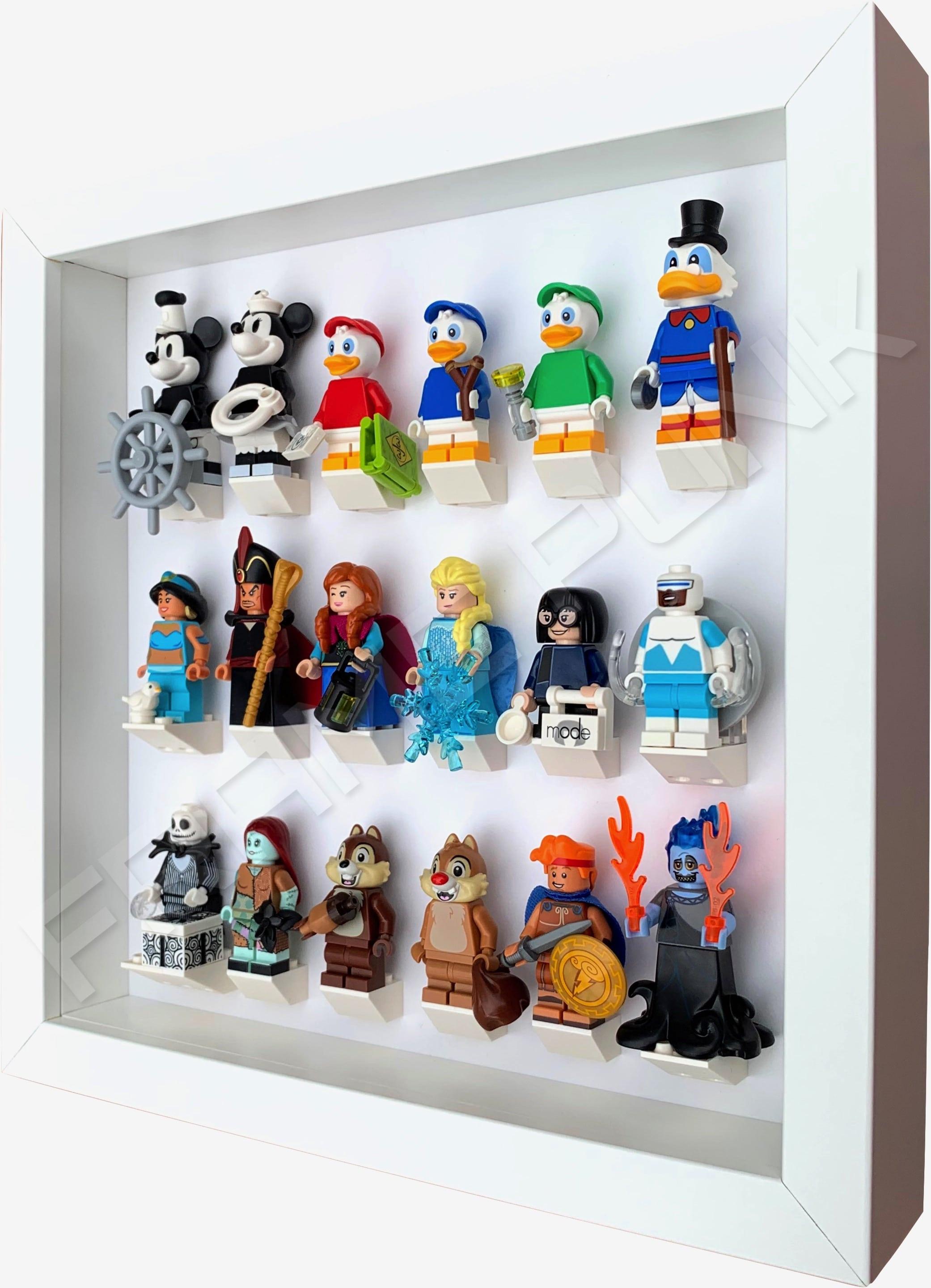 Series 2 Disney Lego Minifigure Display Frame - (AllWhite)