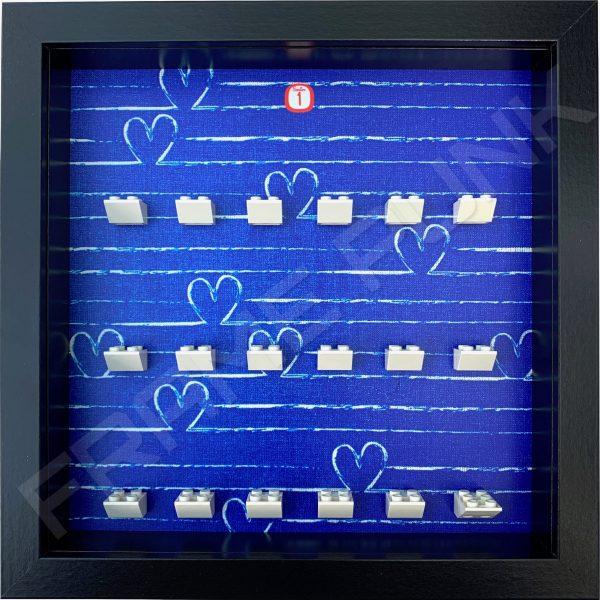 FRAMEPUNK black display frame compatible with LEGO Disney Minifigures Series 1 (Heart)
