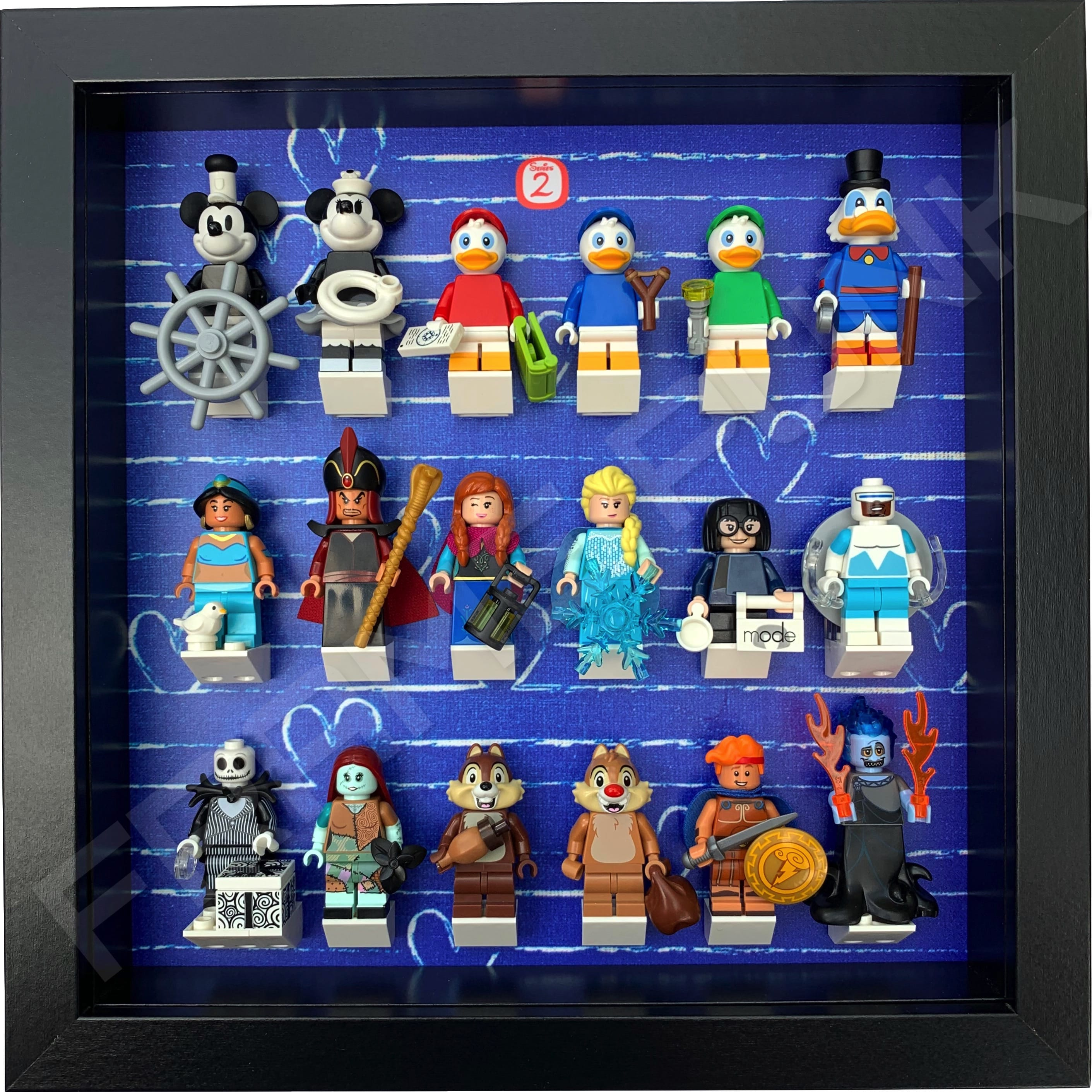 Series 2 Disney Lego Minifigure Display Frame - (HeartBlack)