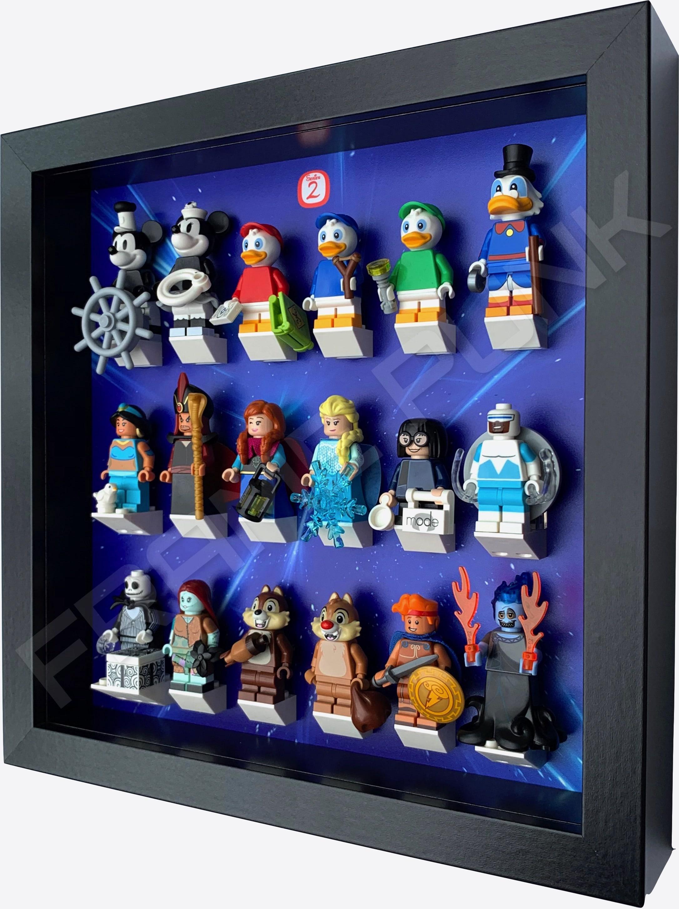 Series 2 Disney Lego Minifigure Display Frame - (StarryBlack)